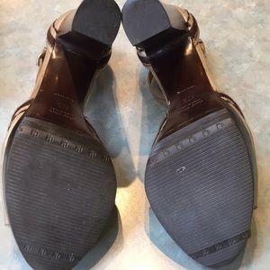 Miu Miu Shoes - Miu miu tan leather platform sandals